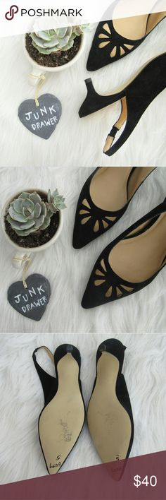 Suede Cutout Pippa Slingback Kitten Heel 5M NWOB New without box! Never worn! Tried on only. Bottom has clearance price marked in it. Otherwise New condition. Adorable spring shoe! Pointed toe. Great for Easter.  Bundle for best deals! Hundreds of items available for discounted bundles! Bundle offers welcome.   Follow on IG: @the.junk.drawer Talbots Shoes Heels
