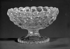 ca. 1888 Pressed Colorless and Opalescent Glass Footed Dish, Richards and Hartly Flint Glass Co. (ca. 1870-90), Tarentum,
