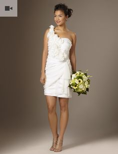 since we're having a summer wedding, i want a short wedding dress...so i don't sweat to death! <3 this.