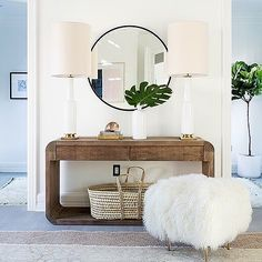 @erinfetherstons light and fun entryway is luxurious without being too obvious. Designed without being too contrived. Such a great mix. Its our 1st choice in our room redo vote this week! Want to see us recreate this space for less? Like it now to vote! Pic with the most likes wins  Featured on @onekingslane  by @treasurbite #roomredo #entryinspo #entrywayinspo #inspiration #foyer #frontdoor #CopyCatChic