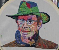 Lou Reed, 2014. Hand embroidery by Bascom Hogue.