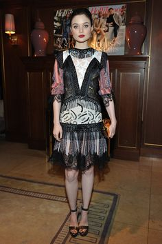 """Bella Heathcote from """"Pride and Prejudice and Zombies"""" #THRStylists"""