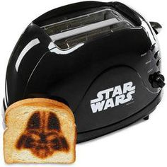 Star Wars Toaster  Do you like your toast a little… on the dark side? Sold on Think Geek.