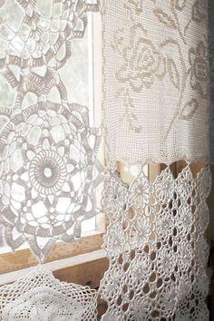 Meravigliose tende Shabby realizzate con i centrini all'uncinetto - Il blog italiano sullo Shabby Chic e non solo