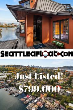 3110 Portage Bay Place E - Seattle Floating Home Listed Today! - Seattle Afloat: Seattle Houseboats & Floating Homes Seattle Waterfront, Seattle Area, Waterfront Homes, Seattle Homes For Sale, Portage Bay, Seattle Neighborhoods, Floating Homes, Lake Union, Houseboats