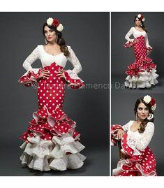 Alicia - Rojo lunares blancos - trajes de flamenca 2015 mujer - Aires de Feria