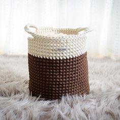 Brown and cream colour basket, handmade storage basket, toy basket, home decor, rope crochet basket by iKNITSTORE on Etsy Cream Colour, Color, Toy Basket, Storage Baskets, House Warming, I Shop, Kids Room, Toys, Brown