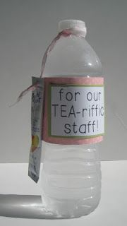 Stampin Up Teacher Appreciation Gift Idea...click on picture for more details. Or     Tea-riffic friend, or use with a tea bag holder
