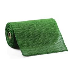 9 Inch Green Jute Ribbon 10 Yards (stitched edging)