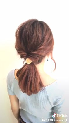 The Top 20 Trending Pictures of Beauty : ✂︎hair arrange✂︎ by go. Loose Hairstyles, Pretty Hairstyles, Braided Hairstyles, Wedding Hairstyles, Hairstyles Videos, Medium Hair Styles, Curly Hair Styles, Short Hair With Bangs, Short Hair Ponytail Hairstyles