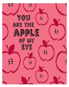 Apple of my Eye Printable Wall Art