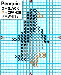 Αποτέλεσμα εικόνας για penguin cross stitch pinterest
