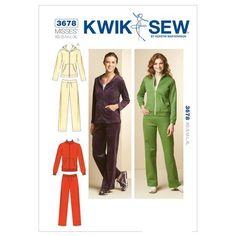 Size XS-S-M-L-XL Kwik Sew K3897 Overalls Sewing Pattern