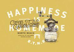 Ellie's Table At North Beach by Brian Rau, via Behance