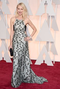 The Oscar-Night Looks That Won, Big Time  #refinery29  http://www.refinery29.com/2015/02/82608/oscars-2015-best-dressed-red-carpet-photos#slide-1  In general, the red carpet is usually not the place where you see a ton of creative layering, but Naomi Watts' Armani Privé gave the appearance of a cut-in, high-neck gown paired with a bandeau top. It was modern, elegant, and so incredibly cool.