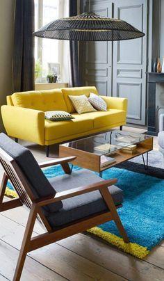 Décoration intérieur dans le style scandinave et coloré #design #home #deco…