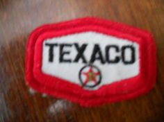 Texaco iron on patch by Silly67 on Etsy, €8.00