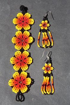 Beaded Flowers Patterns, Beaded Jewelry Patterns, Beading Patterns, Bead Jewellery, Seed Bead Jewelry, Paper Quilling Jewelry, Bead Loom Bracelets, Native American Beadwork, Handmade Beaded Jewelry