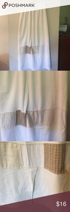 "Jackie ❤️ John Artsy Lagenlook Skirt EUC - measures 38 1/2"" long. Elastic Waist, 10"" slit up back. 100% cotton. No rips or stains. Smoke-free home. Jackie ❤️ John Skirts Maxi"