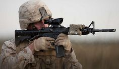 Marines leverage cutting-edge tools and innovative technology to defeat our country's enemies. Assault Weapon, Assault Rifle, M4 Carbine, Special Ops, Us Marines, Military Photos, Ares, Marine Corps, Usmc