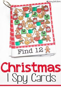 Christmas Printable iSpy Cards – Living Well Mom – Natural Living Simplified for Busy Moms Christmas Printable iSpy Cards Christmas Free Printable iSpy cards for kids are perfect as stocking stuffers or a no-mess activity on a cold winter day! Christmas Activities For Kids, Free Christmas Printables, Free Printables, Winter Activities, Christmas Worksheets, Free Activities, Educational Activities, Toddler Activities, Winter Christmas