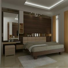 Bedroom design information and tips regarding rumah minimalis information and ti Wardrobe Design Bedroom, Apartment Bedroom Design, Bedroom Furniture Design, Bed Furniture Design, Home Room Design, Master Bedroom Interior, Modern Bedroom Interior, Bedroom Bed Design, Room Design Bedroom