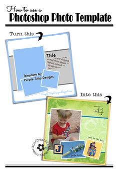 How to Use a Photoshop Template (Clip photos to frames the easy way!  A simple trick you need to know!) OneCreativeMommy.com