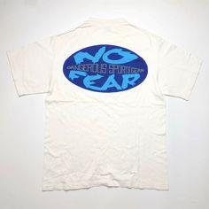 1938cfabe Vintage 80s No Fear Dangerous Sports Gear USA T Shirt L Sof Tee Jays Single  Stitch
