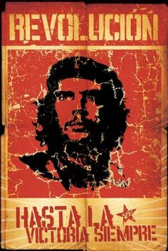 Che Guevara Revolucion Grungy Illustration Political Revolutionary Celebrity Icon Poster Print 24 by 36 -- Click image to review more details.Note:It is affiliate link to Amazon.