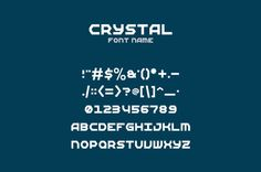 Crystal Font by @Graphicsauthor
