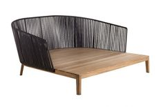 Mood daybed | Tribù Outdoor Sofa, Outdoor Seating, Outdoor Rooms, Outdoor Decor, Metal Furniture, Furniture Sets, Home Furniture, Furniture Design, Outdoor Furniture