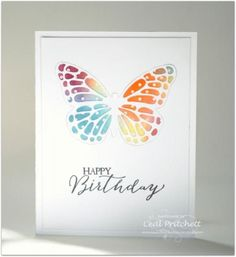 Stained Glass Butterfly by simplybeautiful - Cards and Paper Crafts at Splitcoaststampers:
