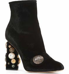 Main Image - Dolce&Gabbana Pearl Statement Heel Bootie (Women)