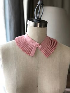 High Collar Shirts, High Collar Blouse, Detachable Collar, Collars For Women, Collar Designs, Neck Wrap, Couture, Dusty Pink, Fashion Details