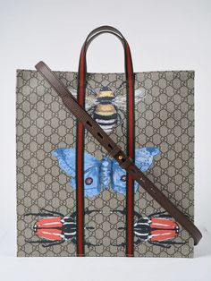 b1d11dd11 Supreme Tote from Gucci: Grey Supreme Tote with adjustable shoulder strap,  gold tone hardware