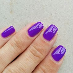 China Glaze Plur-ple, 3 coats. This was thin, but otherwise easy to work with, it self-leveled perfectly and didn't flood my cuticles.