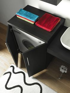 Mobile coprilavatrice Wash chiuso Konmari, Home Organization, Nightstand, House Styles, Furniture, Laundry, Dining, Home Decor, Collection