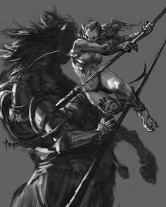 Garat Kaszag, Chieftain of the Ironhide tribe. Her ferocity in battle is legendary,and it was she who slew the noble Knight-Commander of the Knights of the Hart, during the most recent Black Raid. She carries his spear still and many of Orc-kinds foes have met their end on its edge.