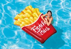 Intex Inflatable French Fries Pool Float, 69 inch x 52 inch, Size: One size, Multi-color
