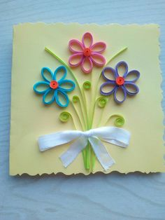 Paper Quilling Cards, Origami And Quilling, Paper Quilling Designs, Quilling Paper Craft, Quilling Patterns, Quiling Cards, Paper Quilling For Beginners, Mothers Day Crafts For Kids, Toilet Paper Roll Crafts