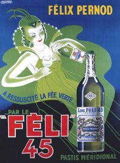 Felix Pernod Pastis Vintage Poster Fine Art Giclee Print