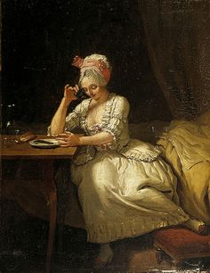 "I really like this little painting by Leonard Defrance, called ""The Breakfast"" Not sure of the date - looking at the styling I'm thinking 1770s."