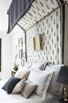 Make your headboard the main attraction of your bedroom.