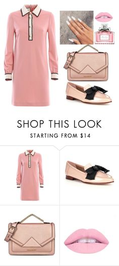 """""""Pretty In Pink"""" by ema123-clxvi ❤ liked on Polyvore featuring Gucci, Kate Spade, Karl Lagerfeld and Christian Dior"""
