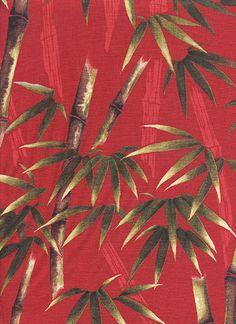 Giardino di bambù: Rosso (incrementi di 1/2 YD)