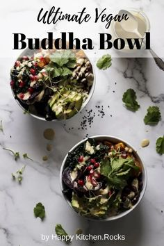 The Ultimate Vegan Buddha Bowl is loaded with nutrient dense vegetables, healthy fats, the best vegan protein, and healthy grains. This Buddha bowl is complete, well balanced meal in just one serving and isn't hard to make. The vibrant colors and rich flavors make it incredibly satisfying and you'll want to enjoy this vegan bowl of yumminess again and again. Delicious Vegan Recipes, Vegetarian Recipes, Healthy Recipes, Free Recipes, Vegetarian Lunch, Healthy Grains, Healthy Fats, Best Vegan Protein, Homemade Tahini