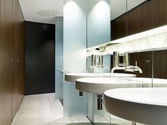 Recessed Pedestal Ceiling Fixed XL Commercial Bathroom by TPI