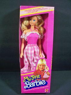 My First Barbie 1982 for sale online Barbie Box, Barbie Dream, Vintage Barbie Dolls, Mattel Barbie, Barbie And Ken, Barbie Stuff, My Childhood Memories, Childhood Toys, Barbie Collector