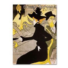 Trademark Fine Art Henri Toulouse-Lautrec 'Divan Japonais' Canvas Art