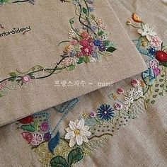 #Embroidery#stitch#needlework#stitch book #프랑스자수#일산프랑스자수#자수#스티치 북  #수강생분들의 스티치북 표지~